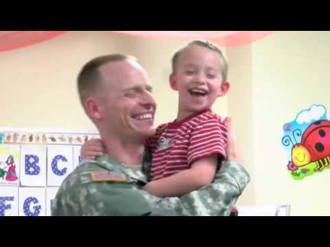 Military Dad Surprises His 5 Kids At School