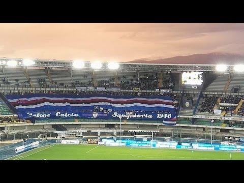 Verona - Sampdoria 0-3 video coreografia e tifo dei Doriani x l'Hellas