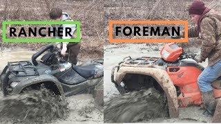 10. Honda Foreman and Rancher hit THICK mud hole