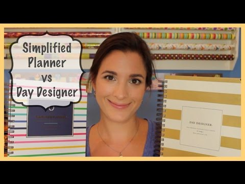Designer - I'm excited to finally have two planners I've been hearing so much about, the Day Designer and Simplified Planner, in hand to compare and review. Check out my coordinating blog post for...