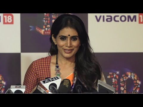 Sonali Kulkarni At The Red Carpet Of 'Viacom 18' 10 Years Anniversary