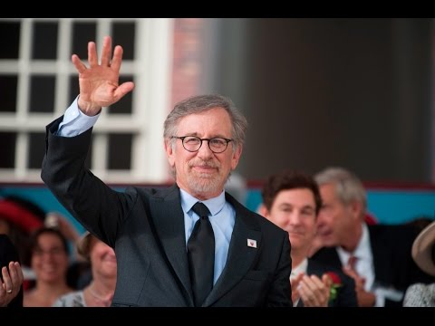'We are a nation of immigrants,' Spielberg told Harvard's graduates, 'at least for now.'