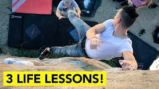 3 POWERFUL Life Lessons I've Learned from Rock Climbing ( Number 3 is key! ) by  rockentry