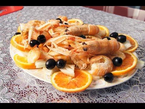 scampi e mazzancolle o gamberi alla catalana - ricetta