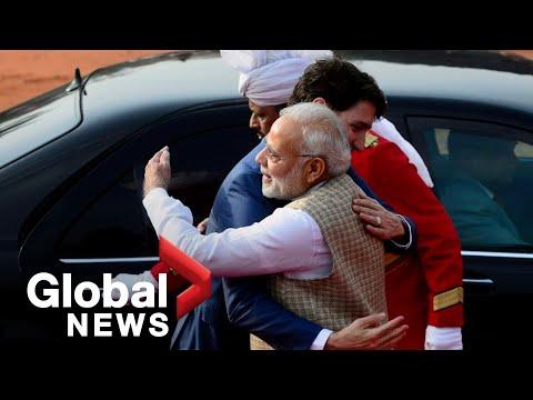 India39s Modi bear hugs Justin Trudeau after dinner-invite controversy