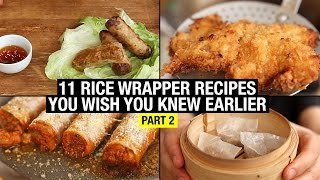 11 Recipes That Use Rice Paper Way Beyond Spring Rolls (part 2) by Alex French Guy Cooking