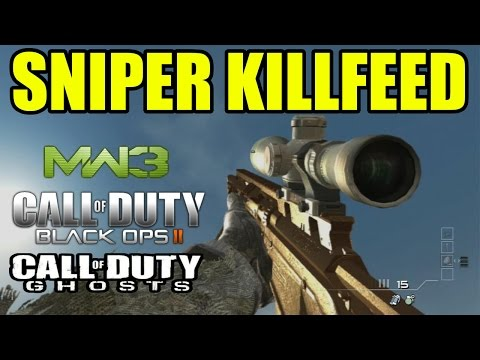 Blackops - AMAZING SNIPER KILLFEED ON CALL OF DUTY. ▻ Freestyle Replay Apparel : http://electronicgamersleague.com/collections/freestyle-replay ---------------------------- PLAYERS AND INFOS -------------...