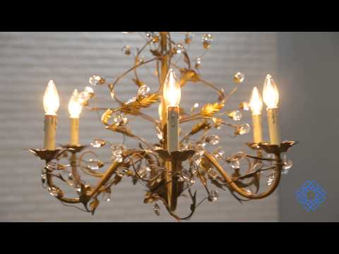 Video for Elegante Crystal Six-Light Chandelier