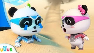 Video Help! Baby Panda's Trapped in Sand Storm | Super Panda Rescue Team | Cartoon for Kids | BabyBus MP3, 3GP, MP4, WEBM, AVI, FLV Juli 2019