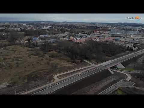 Ulica 100-lecia Niepodległości w Suwałkach. Od Utraty do Sejneńskiej i z powrotem
