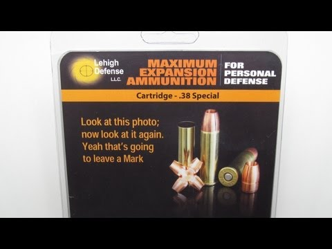Lehigh Defense 38 Special Maximum Expansion Denim and Clear Gel Test