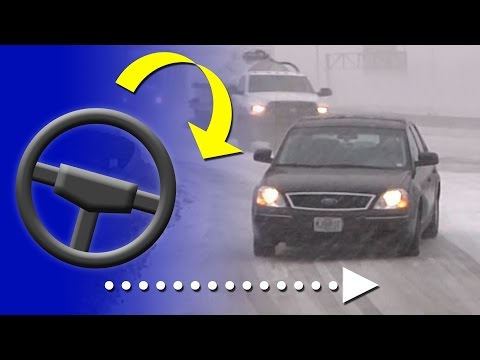 How to correct a slide on an icy road