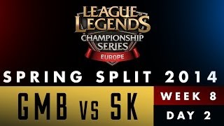 LCS EU Spring Split 2014 - GMB vs SK - Week 8 Day 2