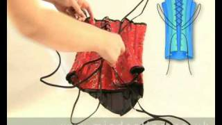 Corsets Video - How To Put A Corset On Correctly.