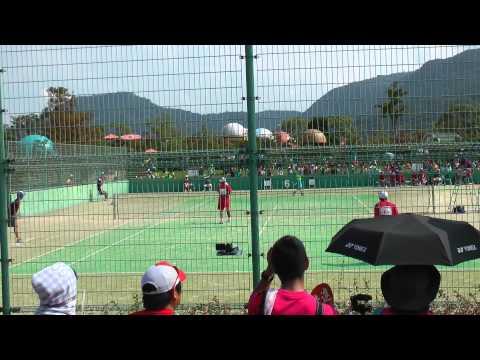 14 全国中学校ソフトテニス大会 男子準決勝 2-3
