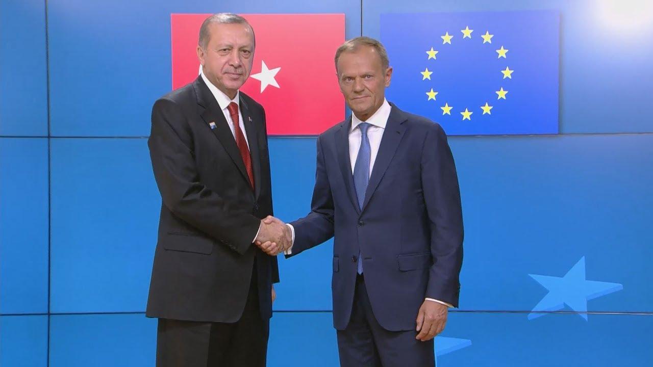 Συνάντηση Ν. Τουσκ και Ζ.Κ. Γιούνκερ με τον Ρ.Τ. Ερντογάν,  στις Βρυξέλλες