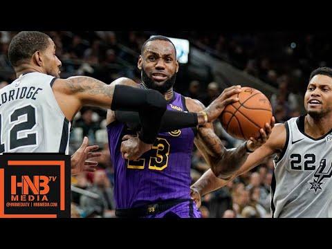 Los Angeles Lakers vs San Antonio Spurs Full Game Highlights   12.07.2018, NBA Season