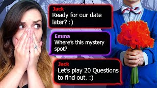 "Reading another Creepy Text Message Story on the HOOKED App called 20 QUESTIONS!! Guessing the mystery location for a date...and it takes a super dark turn...Another Hooked Story I Read: https://www.youtube.com/watch?v=ocGIHd-bklUEvery HOOKED story is told as a bite-sized text message conversation, as if you were reading someone else's chat history.""LIKE"", SHARE, and/or FAVORITE this Video if You Enjoyed it!It Really Helps Me Out!! Thanks for Watching!! ❤SUBSCRIBE HERE ► (http://bit.ly/10uru1W) Become a Z-Sider!VLOG CHANNEL ► https://www.youtube.com/laurenzothersidezCHANNEL MERCH ► http://laurenzside.spreadshirt.com/----------------------------------------­-----------------------------------Get Awesome Gaming Gear: http://steelseries.7eer.net/c/193844/100327/2390----------------------------------------­-----------------------------------Follow Me Everywhere!! ❤TWITTER: https://twitter.com/LaurenzSideINSTAGRAM: http://instagram.com/laurenzsideFACEBOOK: https://www.facebook.com/LaurenzsideTWITCH: http://www.twitch.tv/laurenzsideSNAPCHAT: LaurenzSide"