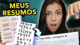 COMO FAÇO MEUS RESUMOS TUMBLR + MEU ESTOJO !!!
