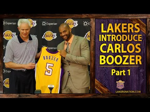 lakers - At Carlos Boozer's introductory press conference, he says he was ecstatic when he heard the Lakers won the amnesty bid. Plus, what did he learn in Chicago? Join the Largest Lakers Fan Site...