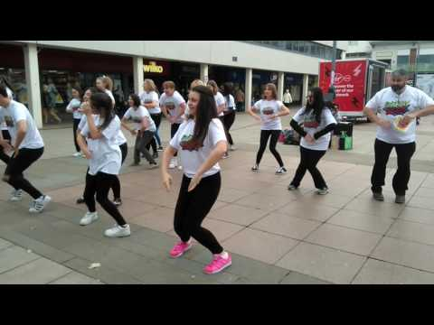 Flashmob perform 'Boomtown' from new musical Danny Hero in Corby town centre