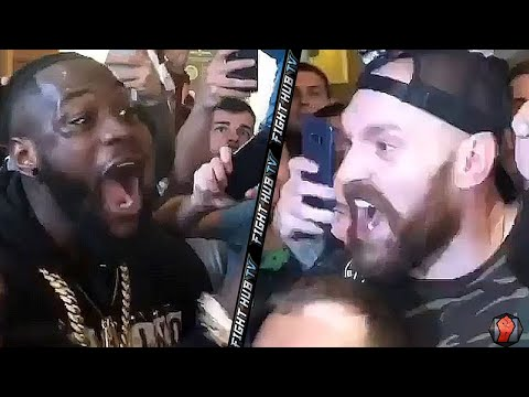 TYSON FURY AND DEONTAY WILDER GO AT EACH AFTER FURY WEIGH IN!