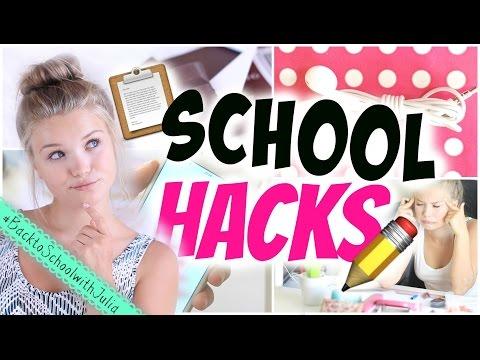 7 SCHOOL LIFE HACKS! Leichter lernen, mehr Energie, persoenlicherkalender uvm! | Julia Beautx (видео)