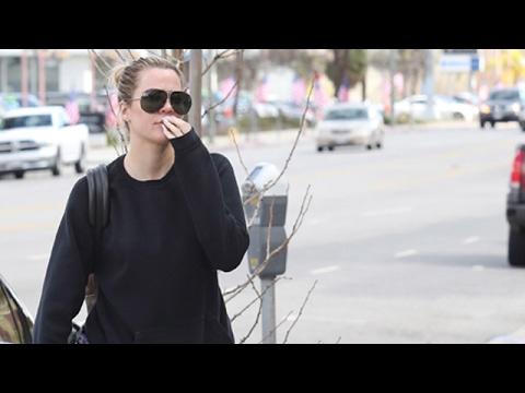 Khloe Kardashian Hits The Tanning Salon