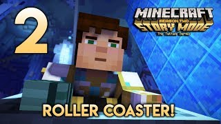 ROLLER COASTER~!! (Minecraft Malaysia) - Minecraft Story Mode Season 2 | Episode 2 | Part 2 |