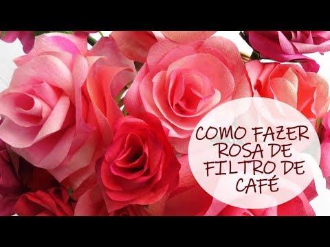 Rosa com folhas