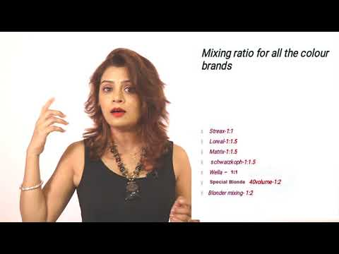 Color Theory Part -6 Mixing Ratio For Developer And Color Tubes ... By Sam Ma'am Tutorial In Hindi