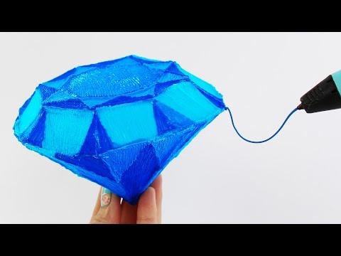 Amazing Diamond 3D Pen DIY   How to draw Magic Crystal