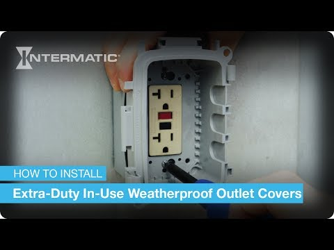 Extra-Duty In-Use Weatherproof Outlet Cover Installation