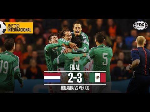 Los goles de Mexico vs Holando en el partido amistoso Noviembre 2014