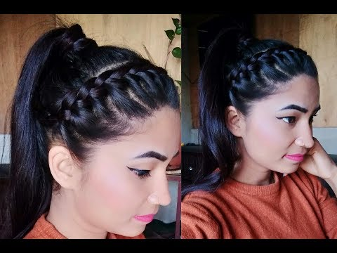 Braid hairstyles - Side Braid With Ponytail Hairstyle/ Summer Hairstyle
