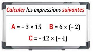 Maths 4ème - Les nombres relatifs en écriture décimale Exercice 3