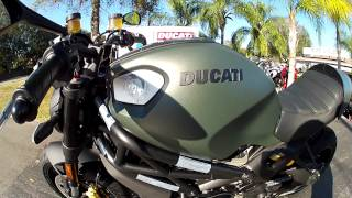 7. 2013 Ducati Monster 1100 Diesel in Green at Euro Cycles of Tampa Bay
