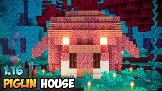 Minecraft 1.16 Nether Piglin Survival House