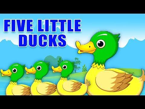 fünf kleine Enten | Kinderreime | Five Little Ducks | Nursery Rhymes