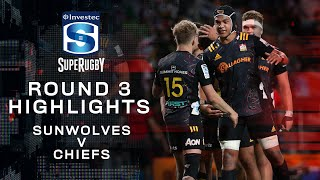 Sunwolves v Chiefs Rd.3 2020 Super rugby video highlights | Super Rugby Video Highlights