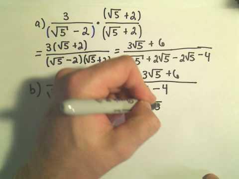 Rationalisierung des Nenners - Beispiel 1