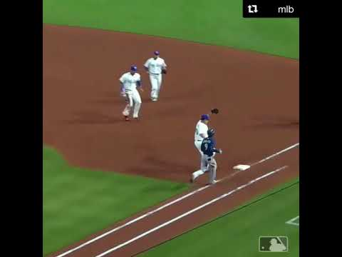 42 year old Bartolo colon beat the fastest guy in baseball to first base