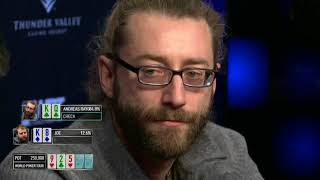 WPT Rolling Thunder 2018 Final Table, Rayo's Hands and Ian's Laydown