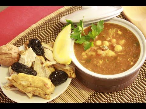 Sopa Marroquí Harira con Pollo