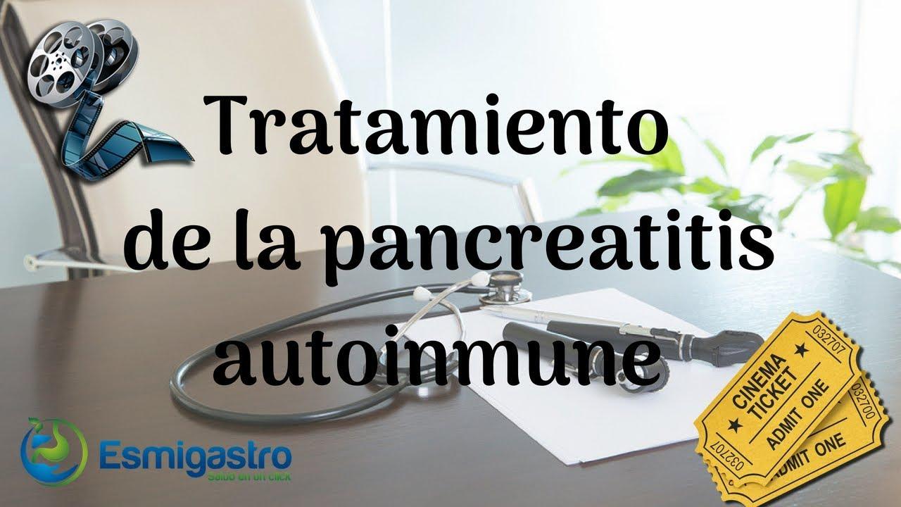 Tratamiento de la pancreatitis autoinmune