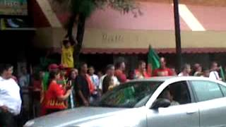 Portuguese Madness Downtown After Euro-Cup Win!