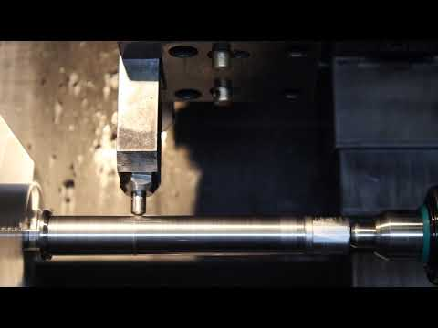 Diamond burnishing processing of spindle with oil  I-20.