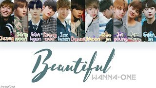Video Wanna One (워너원) - Beautiful [HAN|ROM|ENG Color Coded Lyrics] MP3, 3GP, MP4, WEBM, AVI, FLV Juli 2018