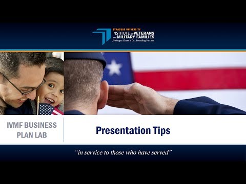 IVMF Business Plan Lab | Presentation Tips
