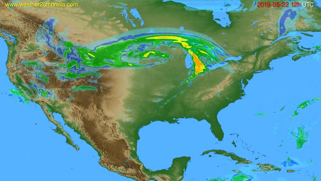 Radar forecast USA & Canada // modelrun: 00h UTC 2019-05-22